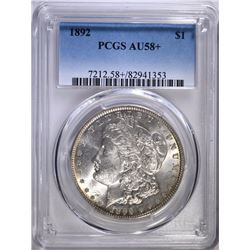 1892 MORGAN DOLLAR PCGS AU-58+