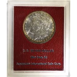 1886 MORGAN SILVER DOLLAR RED PARAMOUNT COLLECTION MINT STATE 65