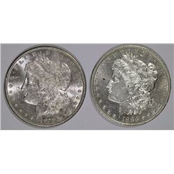 1878-S 7TF BU & 1883-O BU MORGAN DOLLARS