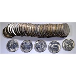 GEM BU ROLL OF 1943-S JEFFERSON NICKELS  NICE!