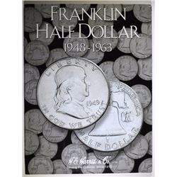 COMPLETE SET OF FRANKLIN HALF DOLLARS 1948-1963  ( 35 ) COIN, NICE CIRC SET
