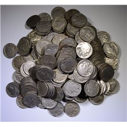 200- CIRCULATED BUFFALO NICKELS WITH DATES