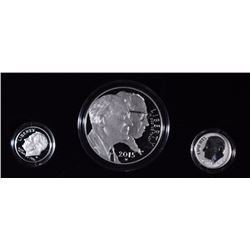 2015 MARCH of DIMES SPECIAL SILVER SET - 3 pc PROOF COMMEM, ORIGINAL BOX/COA