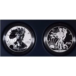 2013 AMERICAN EAGLE WEST POINT TWO-COIN SILVER SET - ORIGINAL BOX/COA