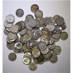 $10 FACE VALUE 90% SILVER DIMES - MOSTLY ROOSEVELTS - 1964 & EARLIER