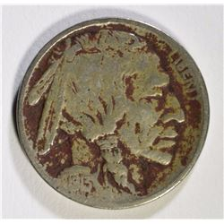 1913-D TYPE-2 BUFFALO NICKEL, VG/FINE