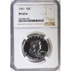1961 FRANKLIN HALF DOLLAR, NGC PF-67* ( STAR )
