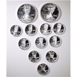 2-HALF OUNCE & 10-1/10th OUNCE .999 SILVER ROUNDS