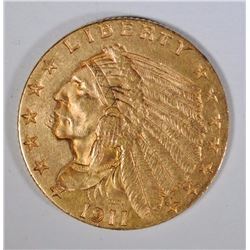 1911 $2.50 GOLD INDIAN, UNC