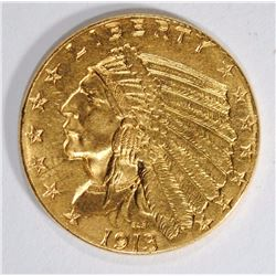 1913 $2.50 GOLD INDIAN CH BU