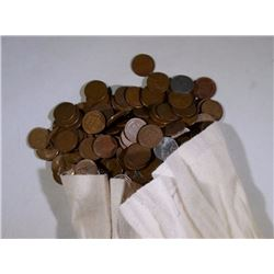 BAG of 5000 WHEAT CENTS ($50) FACE - WITH BONUS KEY / SEMI-KEY INSERT