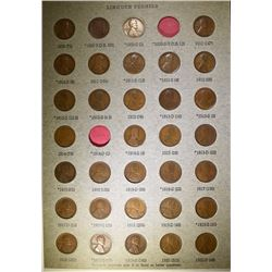 LINCOLN CENT NEAR SET 1909-1971 MANY RED - MISSING 1909-S VDB & 1914-D,169 COINS