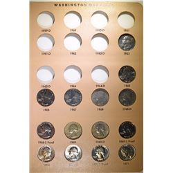 1965 THRU 1998-S WASHINGTON QUARTER SET INCLUDING PROOFS, PLUS 1963 QUARTER