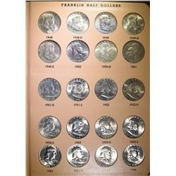 CHOICE BU SET - FRANKLIN HALF DOLLARS - COMPLETE SET 1948-1963