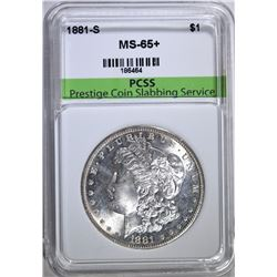 1881-S MORGAN SILVER DOLLAR PCSS GEM BU+