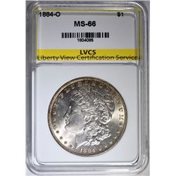 1884-O MORGAN SILVER DOLLAR LVCS SUPERB GEM