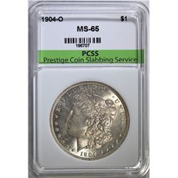 1904-O MORGAN SILVER DOLLAR PCSS GEM BU