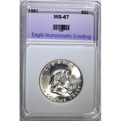 1961 FRANKLIN HALF DOLLAR ENG SUPERB GEM
