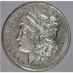 1893-CC MORGAN SILVER DOLLAR AU+