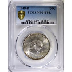 1948-D FRANKLIN HALF DOLLAR PCGS MS64FBL