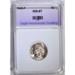 1945-P JEFFERSON NICKEL ENG SUPERB GEM