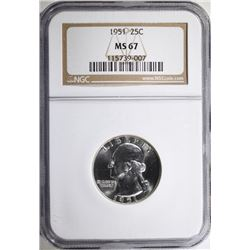 1951 WASHINGTON QUARTER - NGC MS67