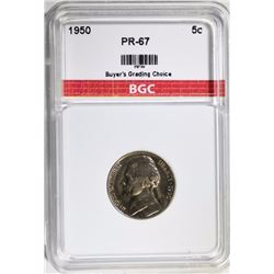 1950 JEFFERSON NICKEL BGC GEM PROOF