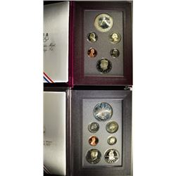 1988 & 1989 U.S. MINT PRESTIGE PROOF SETS - ORIGINAL BOX/COA