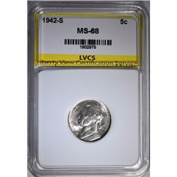 1942-S JEFFERSON NICKEL LVCS SUPERB GEM+