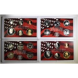2004 & 2005 U.S. SILVER PROOF SETS