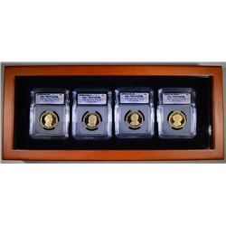 2008 PRESIDENTIAL  DOLLAR SET ICG PR-70 DCAM IN  NICE WOOD DISPLAY CASE
