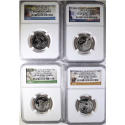 4-NGC GRADED PF-69 ULTRA CAMEO EARLY RELEASES 2016-S QUARTERS: SEE DESCRIPTION