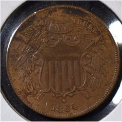 1864 TWO CENT PIECE - NICE AU