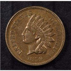 1859 INDIAN HEAD CENT - GORGEOUS AU/UNC