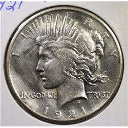 "1921 ""KEY DATE"" PEACE DOLLAR - AU/UNC"