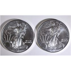 ( 2 ) 2012 AMERICAN SILVER EAGLE ONE OUNCE .999 SILVER COINS