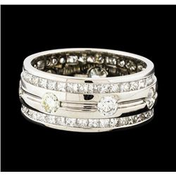 3.70 ctw Diamond Eternity Ring - 14KT White Gold