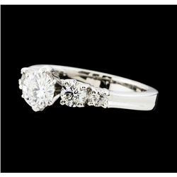 1.37 ctw Diamond Ring -  Platinum