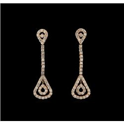 14KT Rose Gold 2.57 ctw Diamond Earrings