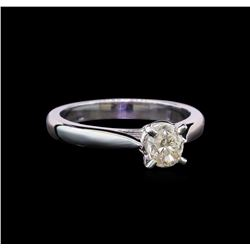 14KT White Gold 0.80 ctw Oval Cut Diamond Solitaire Ring