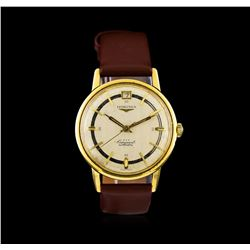 Longines Yellow Gold Conquest Automatic Watch
