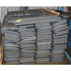 PALLET OF SHELVING WITH STACK OF SHELVING