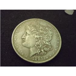 1889 MORGAN SILVER DOLLAR VF
