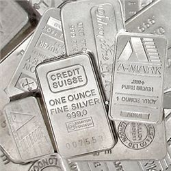 100 One oz Silver Bars .999 Fine