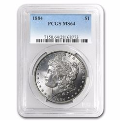 1884 Morgan Dollar MS-64 PCGS