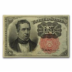 1849-50 5th Issue Fractional Currency 10 Cents CU (FR#1265) Well preserved note in Crisp condition.