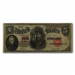 1907 $5.00 Legal Tender Woodchopper Fine FR#91