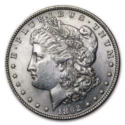 1892 Morgan Dollar BU MS-63 RARE