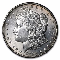 1904 Morgan Dollar BU MS-63 LOW MINTAGE