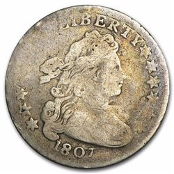 1807 Draped Bust Dime VG Only 165,000 Minted RARE